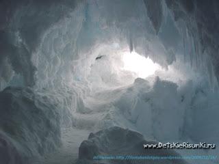 Детские Рисунки лед пещеры удивительно вода ice cave amazing painter