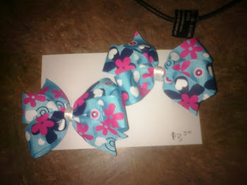 Blue/Pink Bow Set