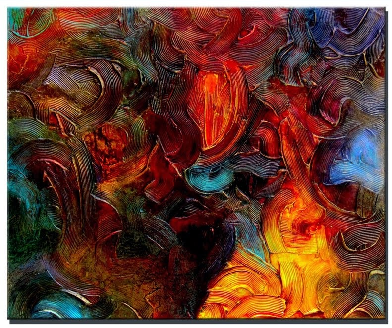 "Original Abstract Painting ""Symphony"" by Artist Dora Woodrum"