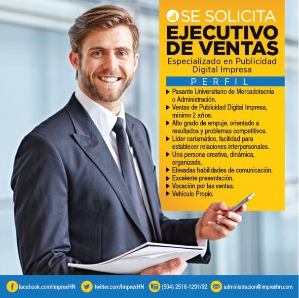 ejecutivo de ventas - tegucigalpa
