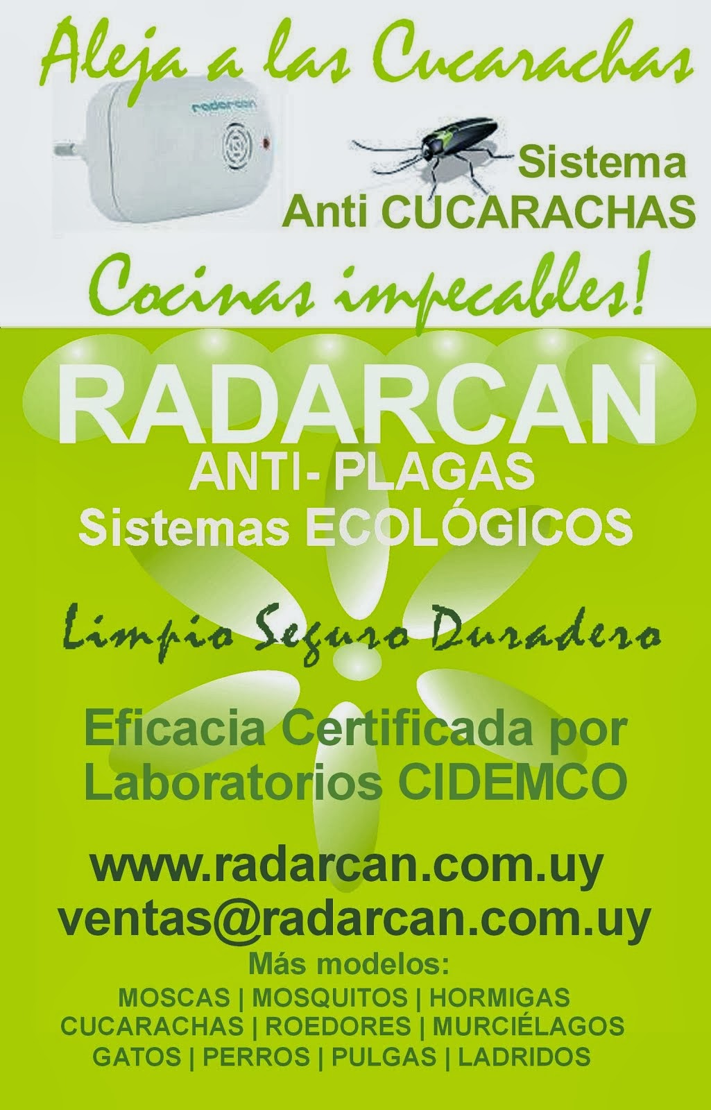 Radarcan Anti Cucarachas