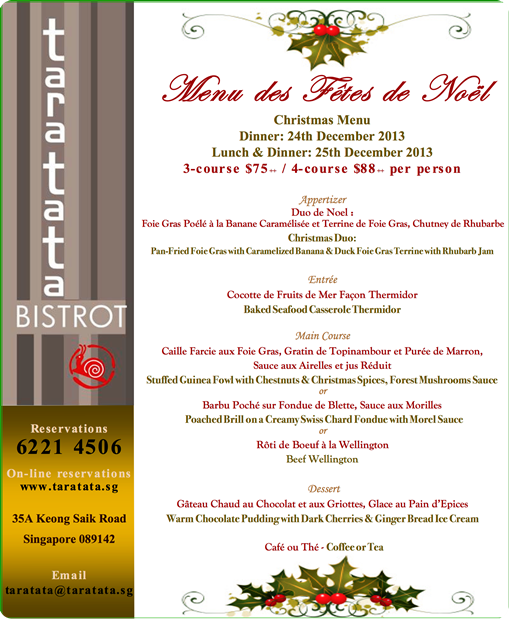 taratata bistrot affordable french christmas menu