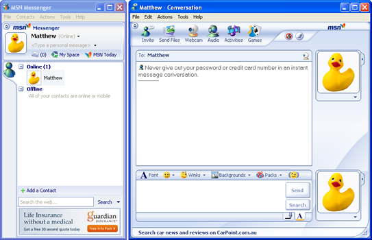 Image result for live messenger multi window