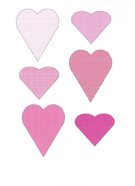 Large Heart Cut Out Template Paper heart banner