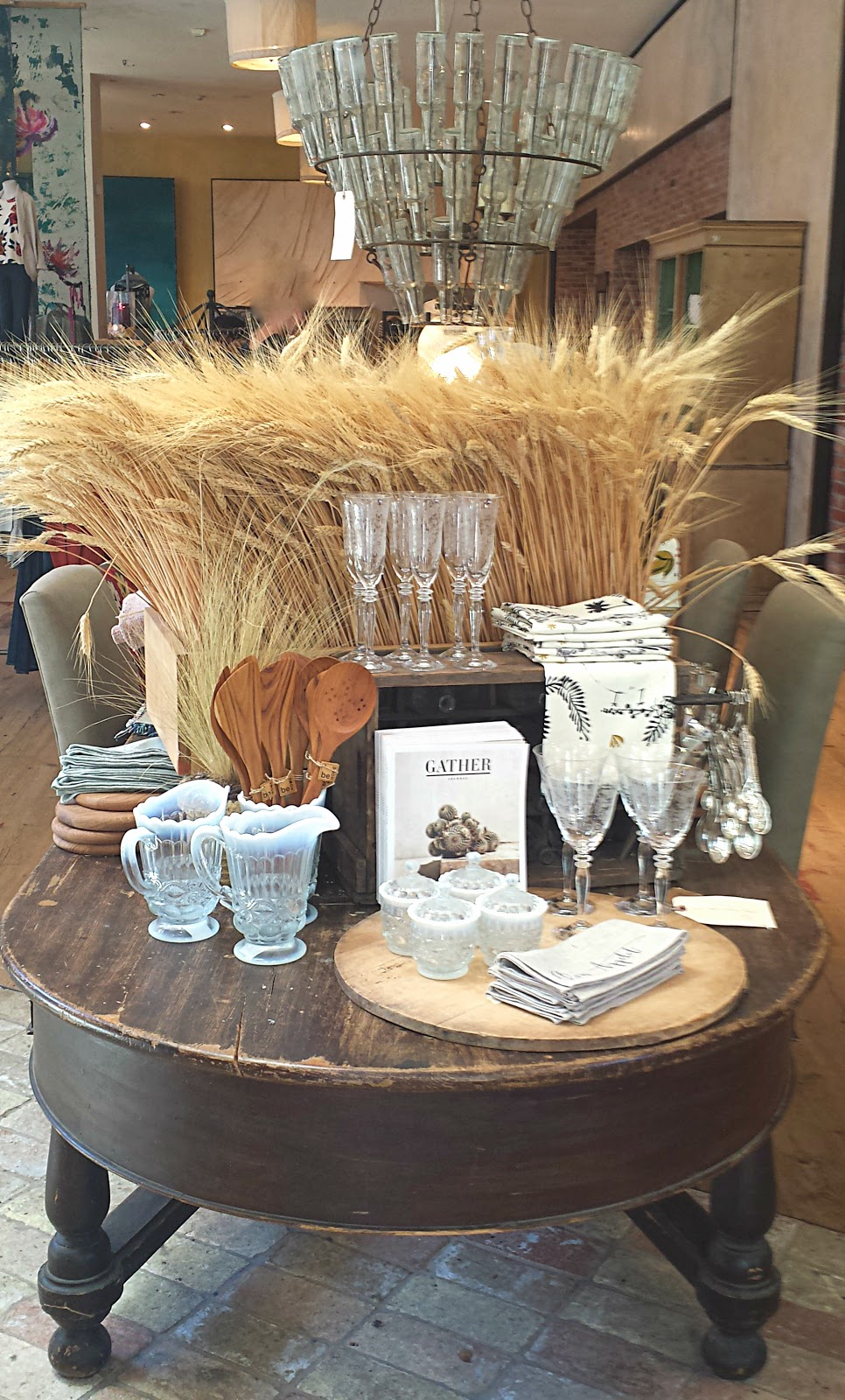 Modern vintage market fall table designs for Types of home decor themes