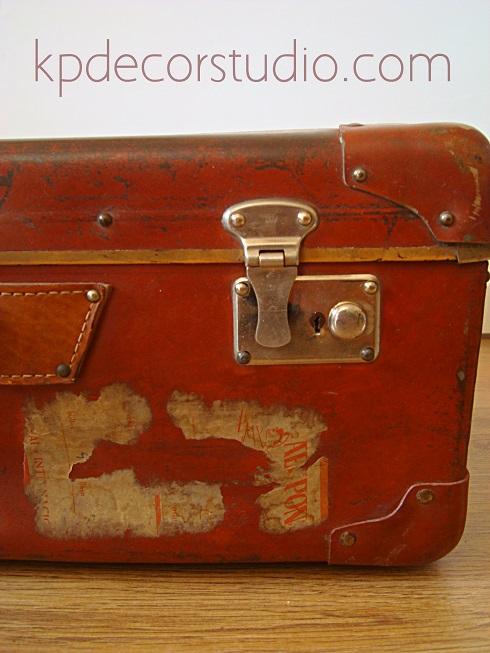 d5d26e6ec KP Tienda Vintage Online: Maleta antigua rojiza (Ref. M12) - Vintage ...