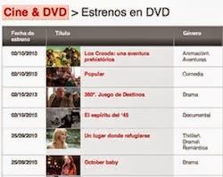 ESTRENOS EN DVD