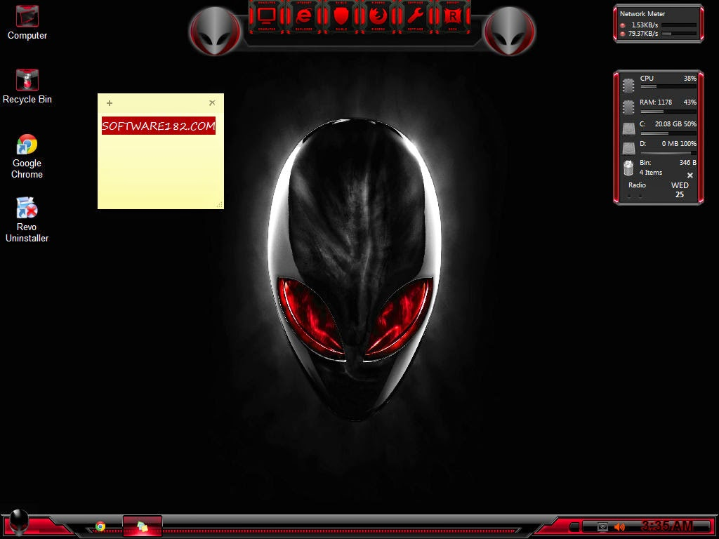 Windows Black Seven 24.5 Alien USB Edition by Kirk