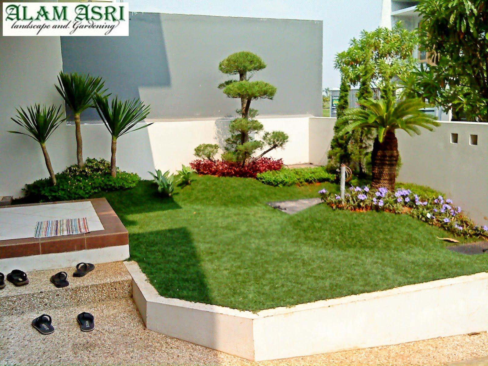 desain taman minimalis depan rumah surabaya jasa tukang