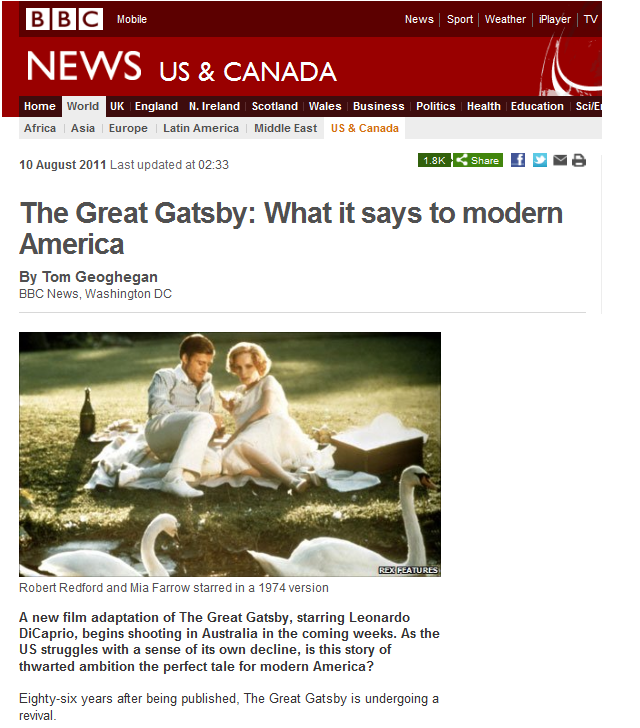 english lit great gatsby English language and literature (emc) as and a level delivery guide h074/h474 theme: the great gatsby as level paper 2, section a the language of literary texts.