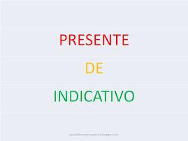 El presente de indicativo (formas verbales)