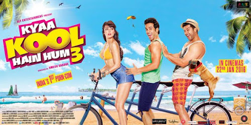 Poster Of Bollywood Movie Kyaa Kool Hain Hum 3 (2016) 100MB Compressed Small Size Mobile Movie Free Download
