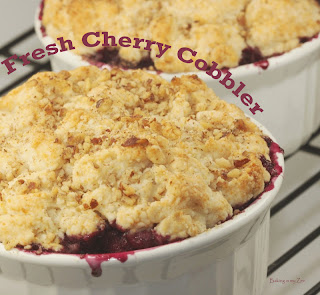 Hot and Cold: Fresh Cherry Cobbler A' La Mode