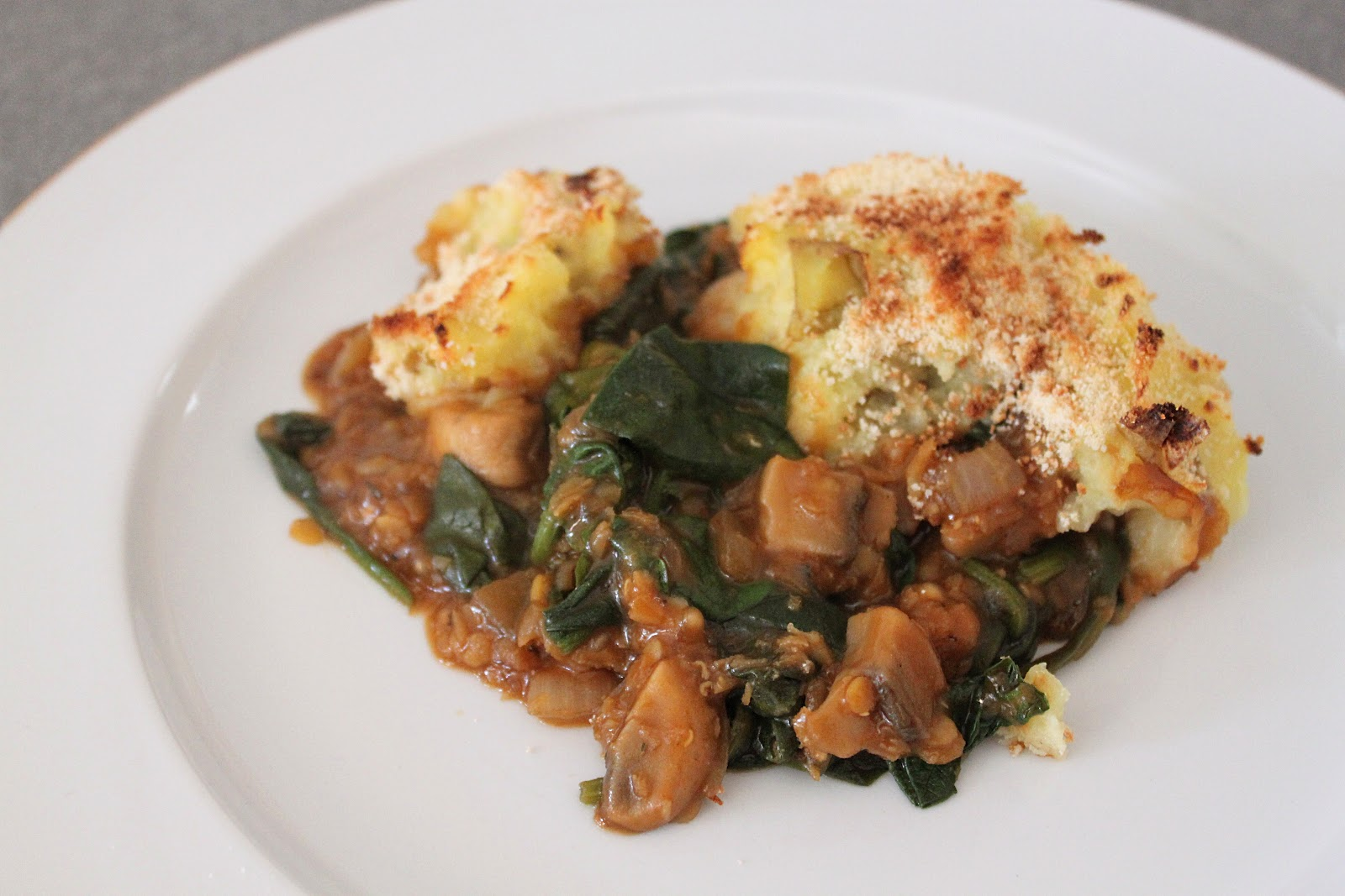Guinness shepherd's pie with lentils and spinach - Amuse Your Bouche