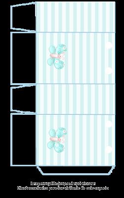 Bolsa de papel en azul cesleste
