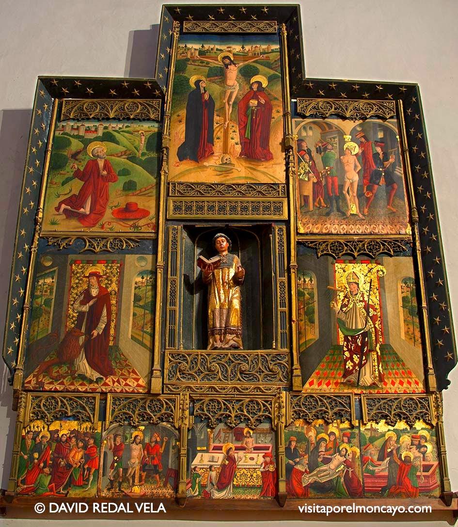 Retablo San Lorenzo Basílica de la Virgen de los Milagros de Agreda