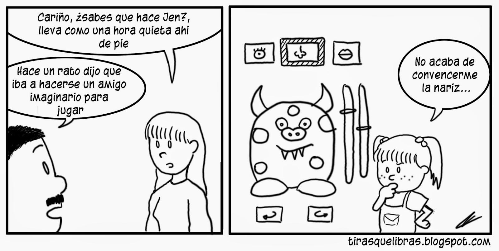 webcomic, jen tiene un amigo imaginario