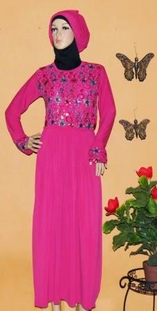 Gamis Jersey Kombinasi Sari India GKM4610