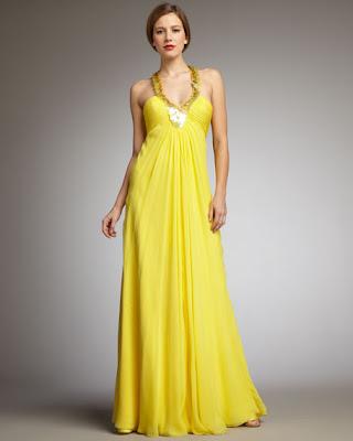 Sequin-Halter Gown