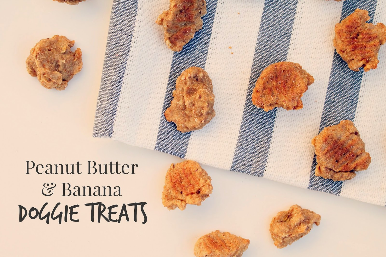 Peanut Butter & Banana Doggie Treats via @labride