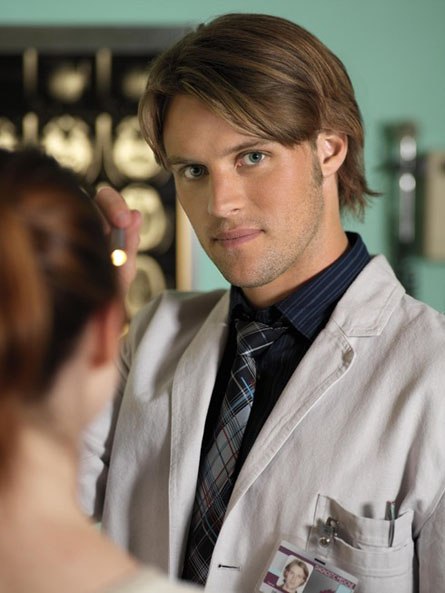 Jesse Spencer in a doctor's smock, from House