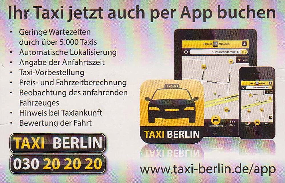 the traveler 39 s drawer taxi berlin deutschland germany. Black Bedroom Furniture Sets. Home Design Ideas