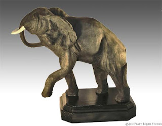 wildlife sculptures, elephant sculpture, wildlife artworks