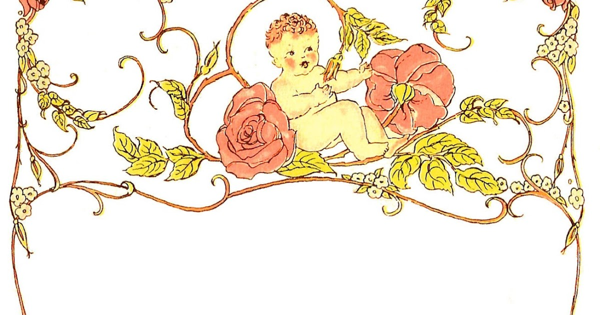 Antique Images Free Printable Digital Frame Baby And