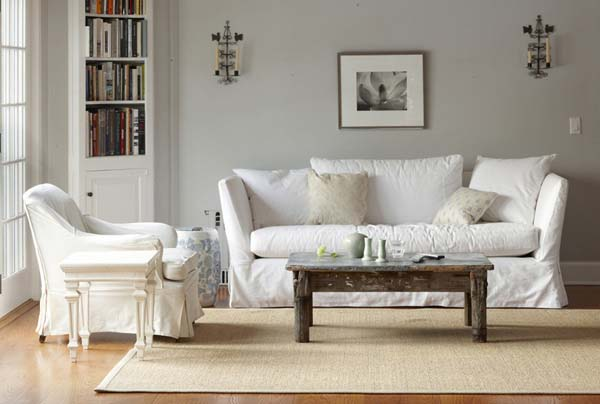 salón en grises y blanco-cálido- sencillo
