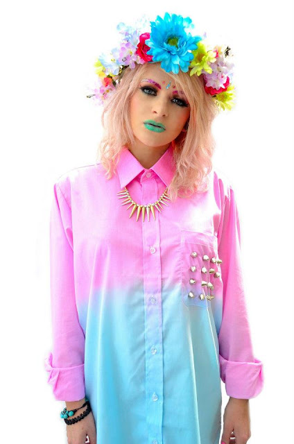 Dip Dye shirt by Cosmic Debris