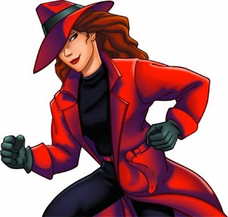 Cartoon picture of Carmen Sandiego