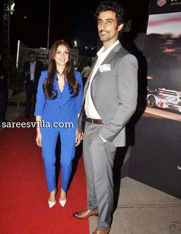 Aditi Rao Hydari and Kunal Kapoor at 6th Top Gear Awards 2014