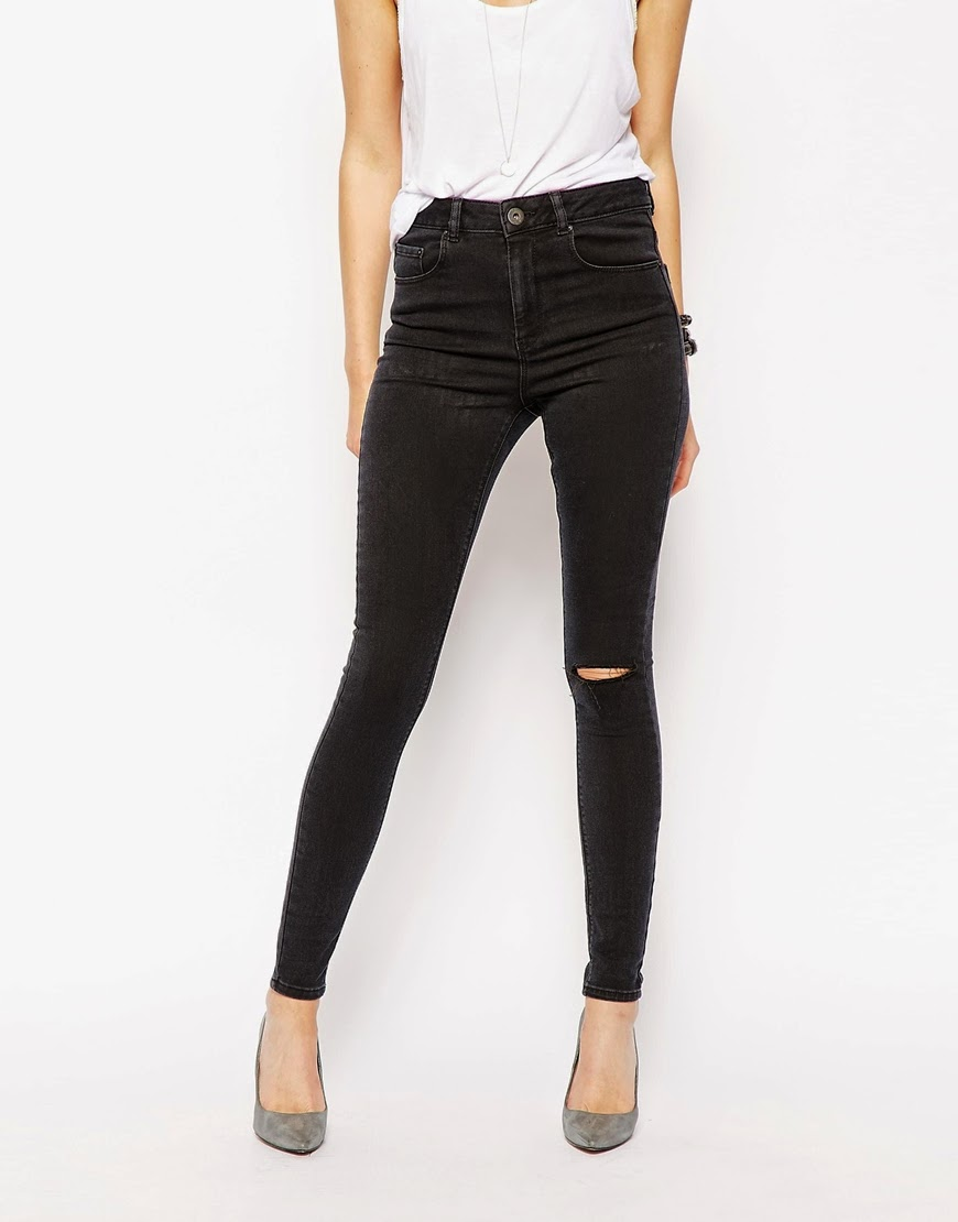 ripped skinny black jeans