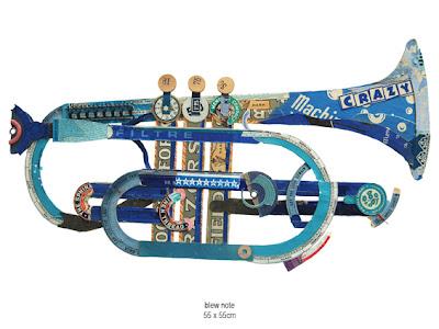 Peter Clark collage trumpet