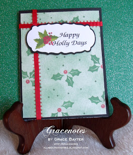 Holly card featuring graphic by Grace Baxter
