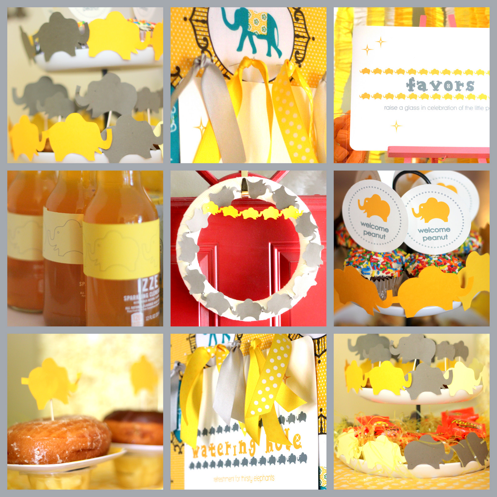 elephants on parade baby shower