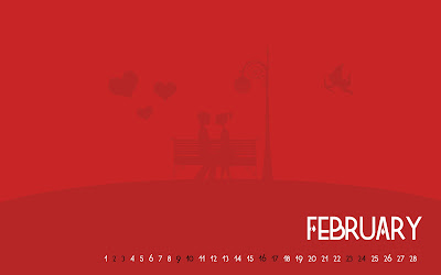 Love Wallpaper : February Valentine Calendar