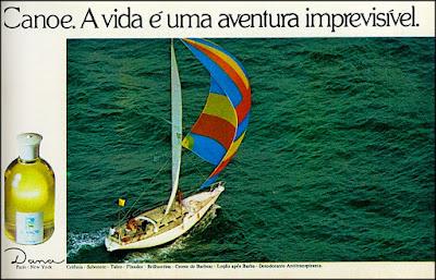 colonia Canoe - Dana, cosméticos, perfume; década de 70. os anos 70; propaganda na década de 70; Brazil in the 70s, história anos 70; Oswaldo Hernandez;