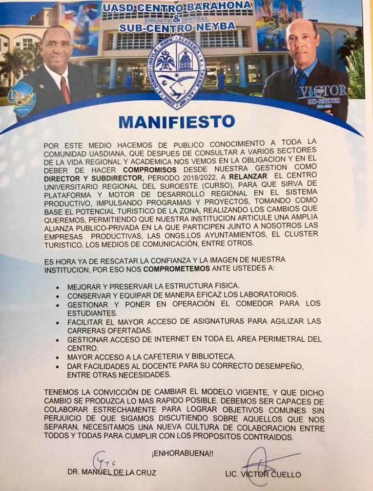 PROPUESTA DE AVANZADA PARA LA UASD BARAHONA