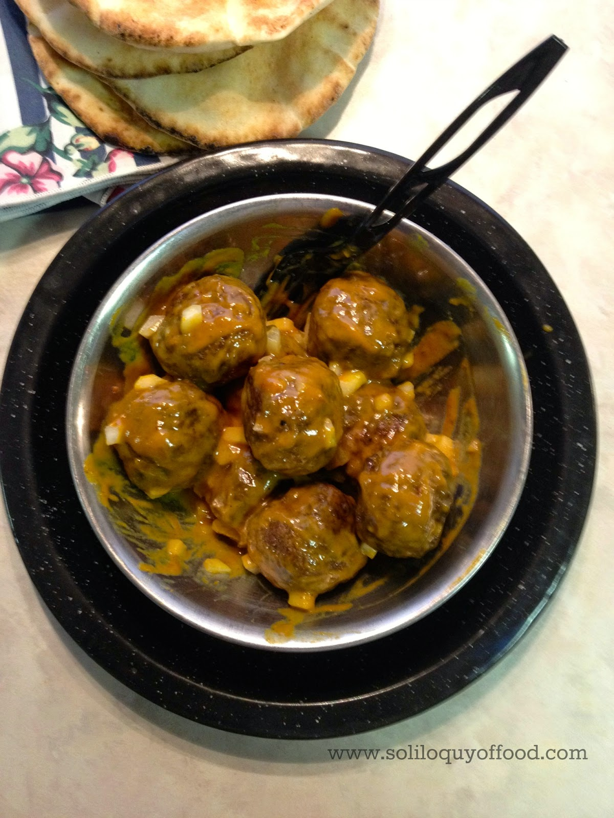 NY System Inspired: Meatballs with Mustard Glaze - www.soliloquyoffood.com