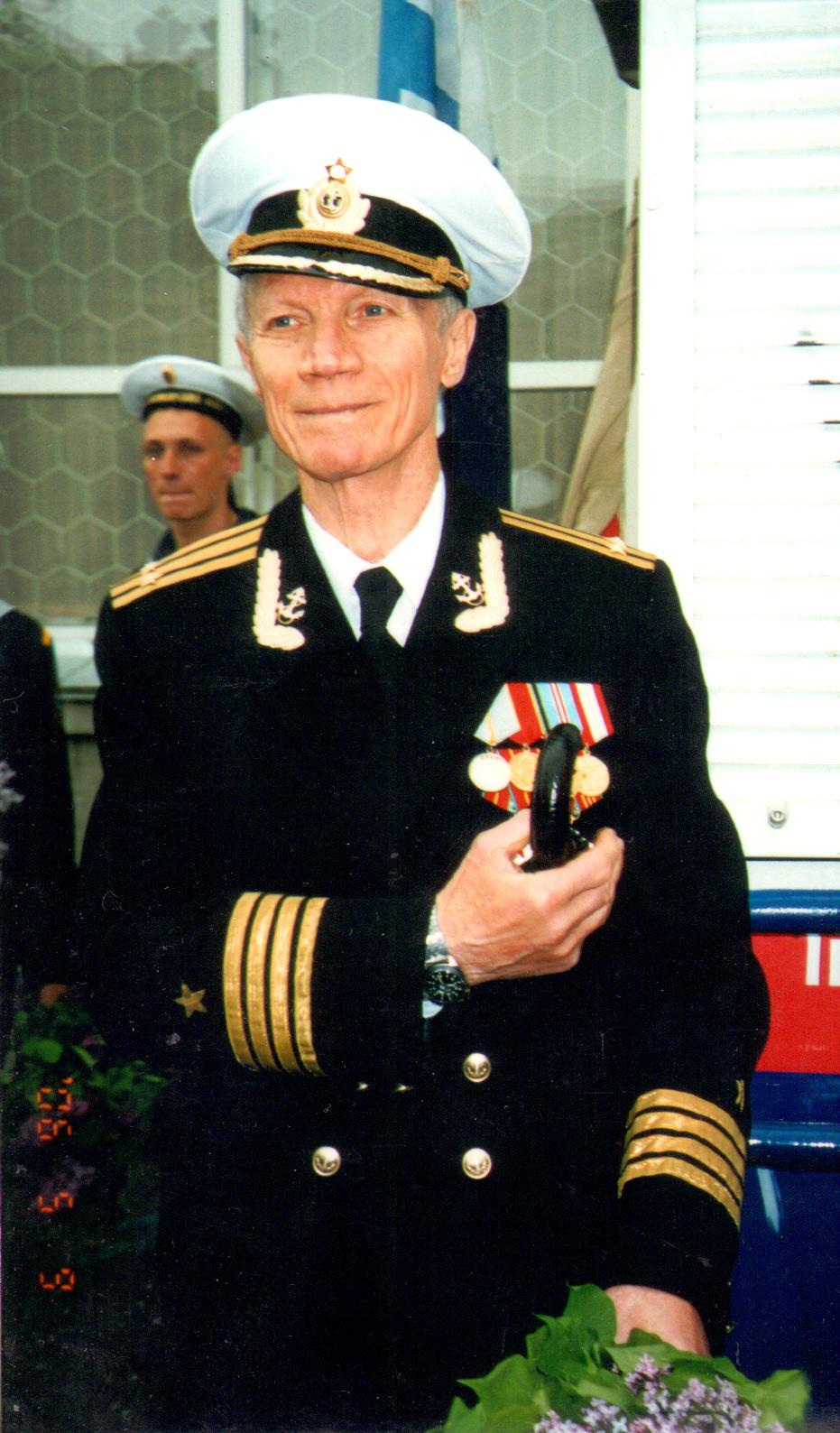 Михаил Адамович, капитан 2 ранга в отставке