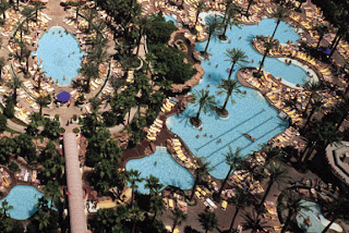 Image des piscines de l'hôtel Flamingo à Las Vegas