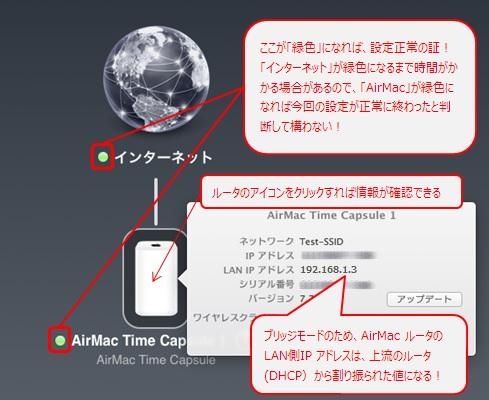 AirMac Time Capsule が「緑色」で表示されればOK!