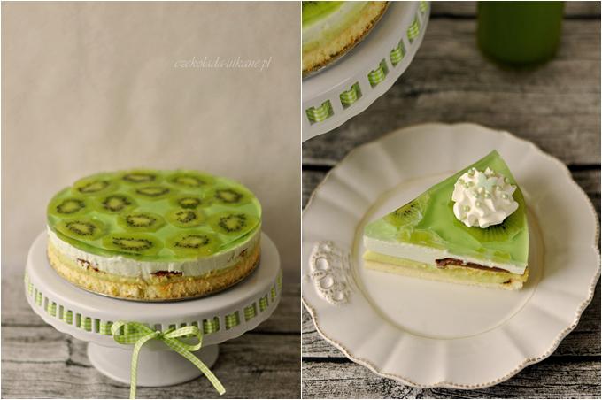 ciasto, na urodziny, na domówkę, na imprezę, zielone, z kremem, przepis na