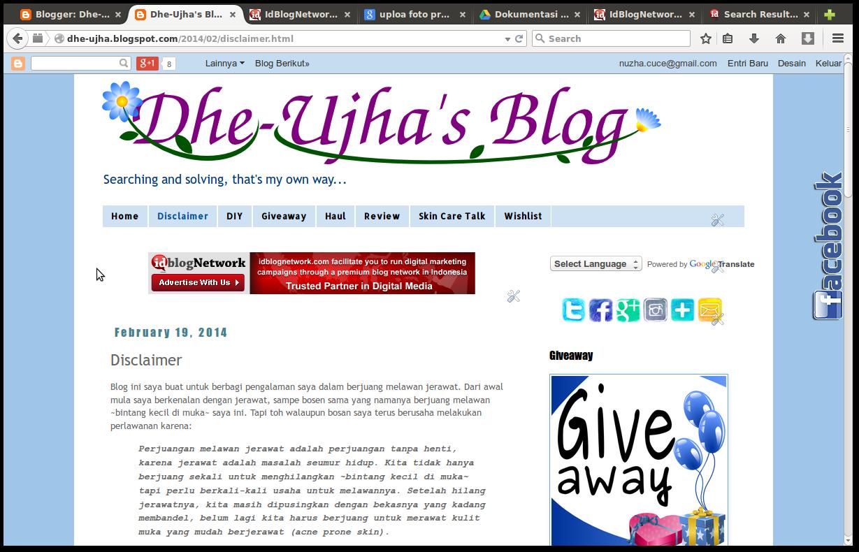 screen shot dhe-ujha's blog