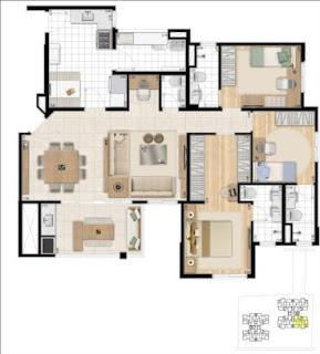 planta apartamento 4 dormitórios mandaqui