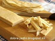 Celestínske cesnakové rezance - recept