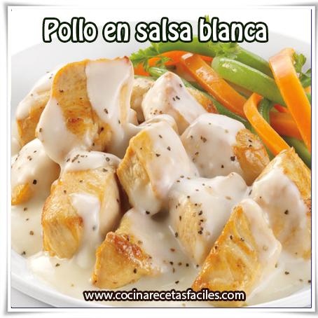 Recetas  de pollo,  receta pollo en salsa blanca
