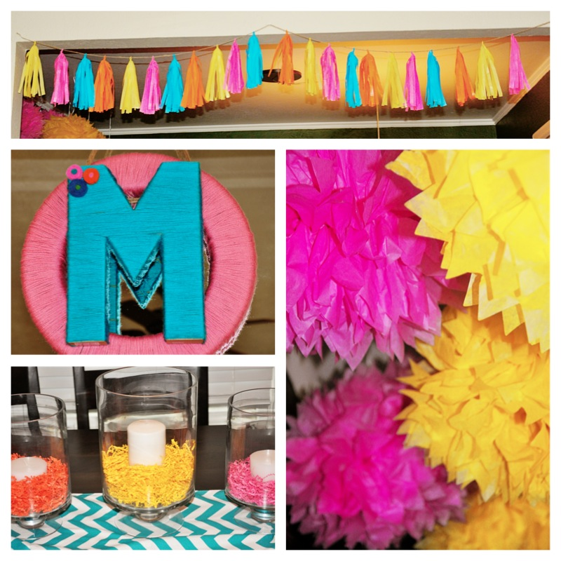 jill made the adorable wreath as well as the tassel garland check out