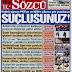 Türkiye pkk ve ışıdı vurdu gazeteler neler yazdı.
